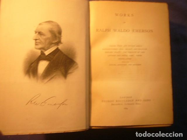 Libros antiguos: RALPH WALDO EMERSON: - WORKS - (LONDON, 1890) - Foto 3 - 181493126