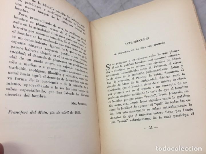 Libros antiguos: EL PUESTO DEL HOMBRE EN EL COSMOS / Max Scheler / 2ª edición 1936. Revista de Occidente - Foto 4 - 181531007