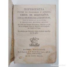Libros antiguos: DIFERENCIA ENTRE LO TEMPORAL Y ETERNO. JUAN EUSEBIO NIEREMBERG. ED PLÁCIDO BARCO LÓPEZ, MADRID, 1783. Lote 181990583