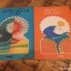 Livros antigos: GIBRAN JALIL GIBRAN-LOTE 2 LIBROS ENTRE NOCHE Y DÍA - ARENA Y ESPUMA-PRISMA. Lote 182511362