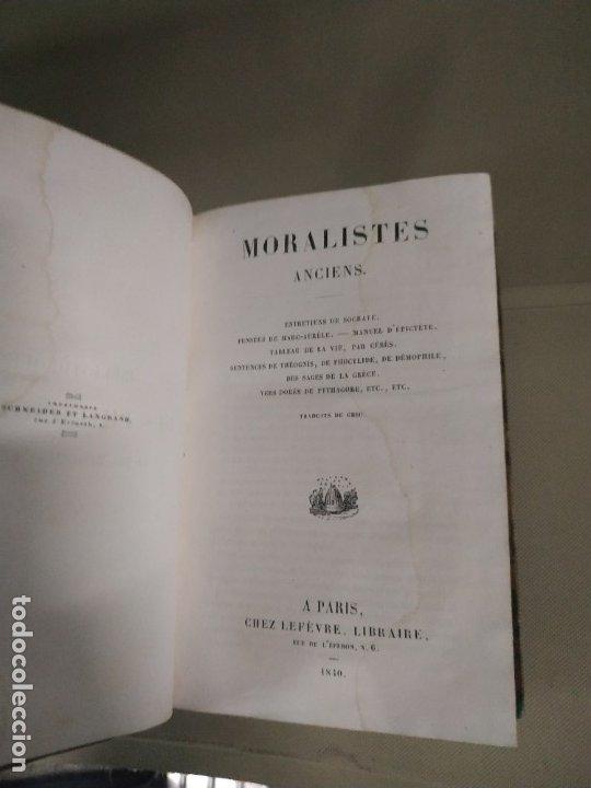 Libros antiguos: 1840. Moralistes Anciens - VVAA. En francés - Foto 3 - 182940477
