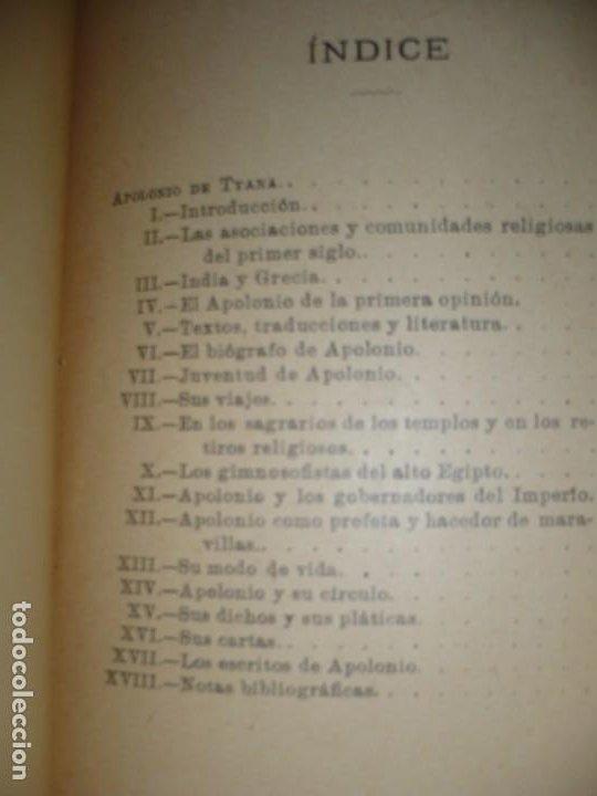 Libros antiguos: APOLONIO DE TYANA ESTUDIO CRITICO G.R.S. MEAD 1906 BARCELONA-BIBLIOTECA ORIENTALISTA - Foto 12 - 183443218
