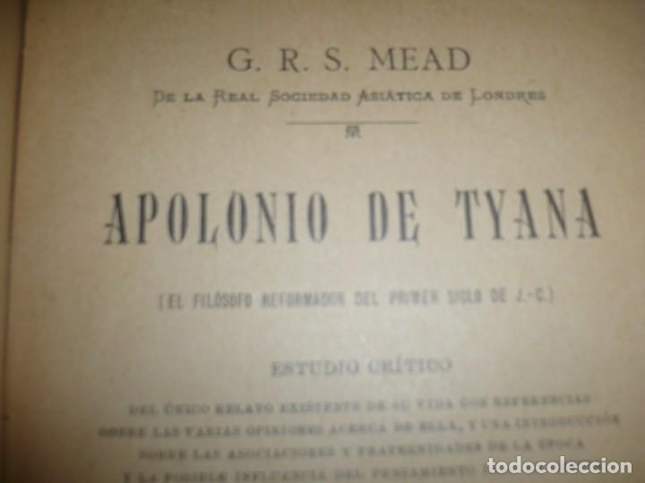 Libros antiguos: APOLONIO DE TYANA ESTUDIO CRITICO G.R.S. MEAD 1906 BARCELONA-BIBLIOTECA ORIENTALISTA - Foto 4 - 183443218