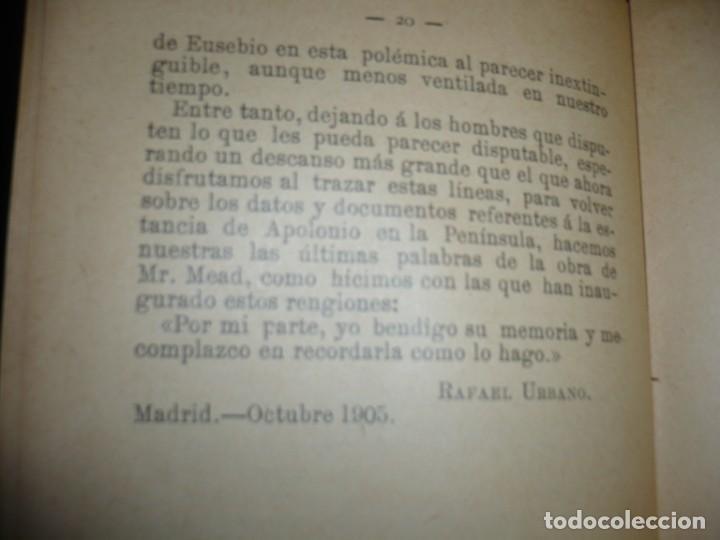 Libros antiguos: APOLONIO DE TYANA ESTUDIO CRITICO G.R.S. MEAD 1906 BARCELONA-BIBLIOTECA ORIENTALISTA - Foto 8 - 183443218