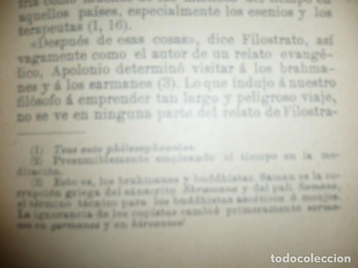 Libros antiguos: APOLONIO DE TYANA ESTUDIO CRITICO G.R.S. MEAD 1906 BARCELONA-BIBLIOTECA ORIENTALISTA - Foto 10 - 183443218