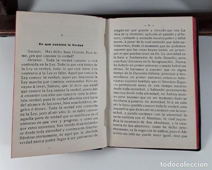 Libros antiguos: LEY NATURAL. DIÁLOGO ENTRE OCTAVIO Y SALESIO. J. GRANÉS. IMP. MODERNA. 1926. - Foto 5 - 183763878