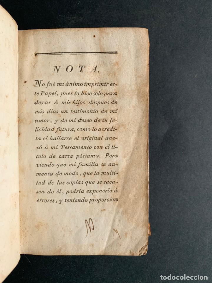 Libros antiguos: 1794 - CARTA DE DON CARLOS DE LOS RIOS, XXII SEÑOR Y VI CONDE DE FERNAN-NÚÑEZ, A SUS HIJOS - Foto 4 - 184079506