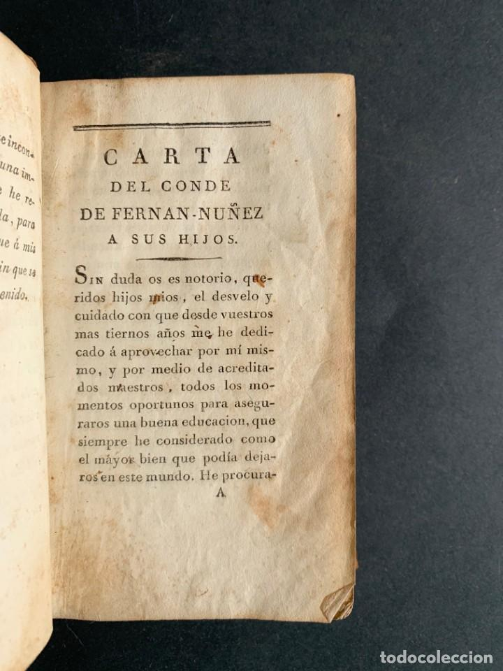 Libros antiguos: 1794 - CARTA DE DON CARLOS DE LOS RIOS, XXII SEÑOR Y VI CONDE DE FERNAN-NÚÑEZ, A SUS HIJOS - Foto 5 - 184079506