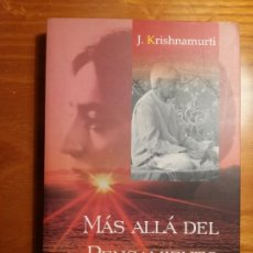 Livros antigos: MÁS ALLÁ DEL PENSAMIENTO. KRISHNAMURTI JIDDU. Lote 246610695