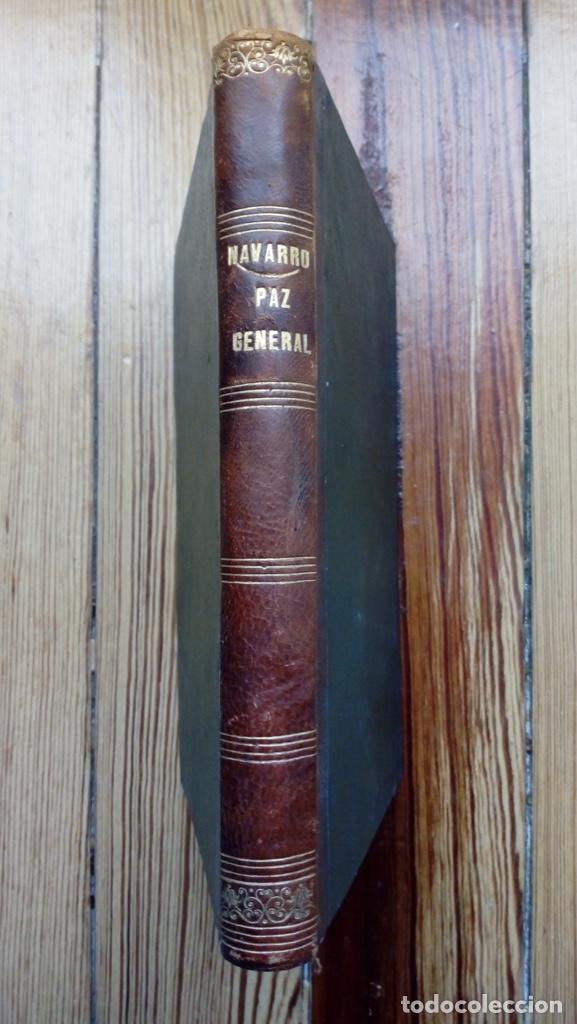 PAZ GENERAL DE LA IGLESIA Y EL MUNDO PEDRO ALVARO NAVARRO 1840 MUY RARO LIBRO NO DISPONIBLE EN RED (Libros Antiguos, Raros y Curiosos - Pensamiento - Filosofía)