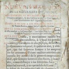 Libros antiguos: NUEVA FILOSOFIA DE LA NATURALEZA DEL HOMBRE. OLIVA SABUCO F. LOPEZ MAD 1728 . Lote 190212001