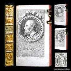 Libros antiguos: AÑO 1772 PRIMERA EDICIÓN HISTORIA DE LOS FILÓSOFOS DE LA ANTIGÜEDAD 10 GRABADOS DIÓGENES GRECIA. Lote 190783255