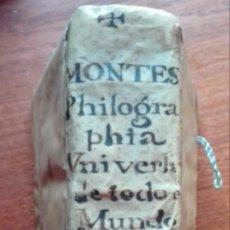 Libri antichi: PHILOGRAPHIA UNIVERSAL DE TODO EL MUNDO, DE LOS DIALOGOS DE LEÓN HEBREO. 1584. MONTESA. PERGAMINO.. Lote 191353266