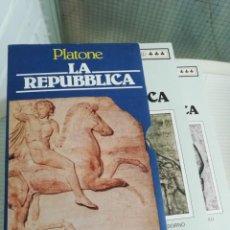 Libros antiguos: PLATONE LA REPUBBLICA ITALIANO. Lote 193577220