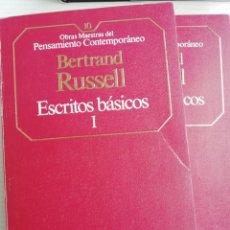 Libros antiguos: BERTRAND RUSSELL, ESCRITOS BÁSICOS, DOS VOLÚMENES. Lote 193580238