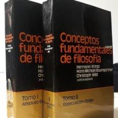 Libros antiguos: LIBROS CONCEPTOS FUNDAMENTALES DE FILOSOFIA HERMANN KRINGS. Lote 193939445