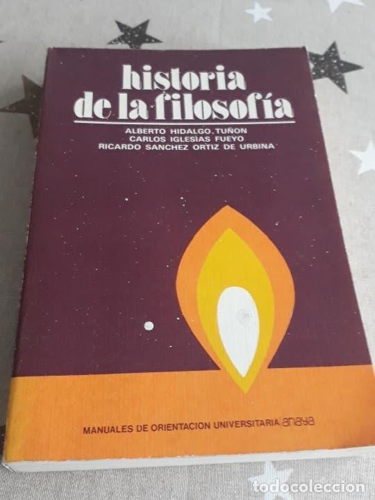 LIBRO HISTORIA DE LA FILOSOFÍA ALBERTO HIDALGO (Libros Antiguos, Raros y Curiosos - Pensamiento - Filosofía)