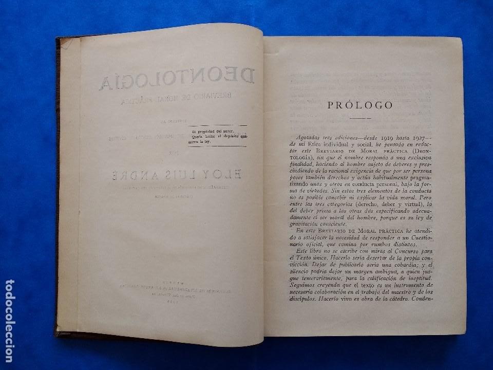 Libros antiguos: DEONTOLOGÍA. DEBERES ÉTICOS Y CÍVICOS. ELOY LUIS ANDRÉ. SUCESORES DE RIVADENEYRA. MADRID, 1928. - Foto 6 - 194184105