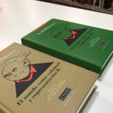 Libros antiguos: EL MUNDO COMO VOLUNTAD Y REPRESENTACION I Y II (ARTHUR SCHOPENHAUER). Lote 194292402