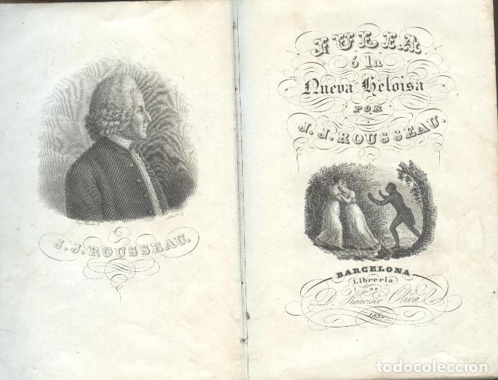 JULIA O LA NUEVA ELOISA DE J. J. ROUSSEA (Libros Antiguos, Raros y Curiosos - Pensamiento - Filosofía)