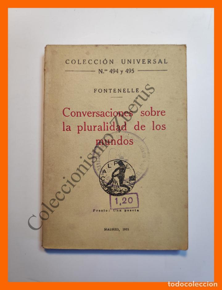 CONVERSACIONES SOBRE LA PLURALIDAD DE LOS MUNDOS - FONTENELLE - COLECCIÓN UNIVERSAL Nº 494-5 (Libros Antiguos, Raros y Curiosos - Pensamiento - Filosofía)
