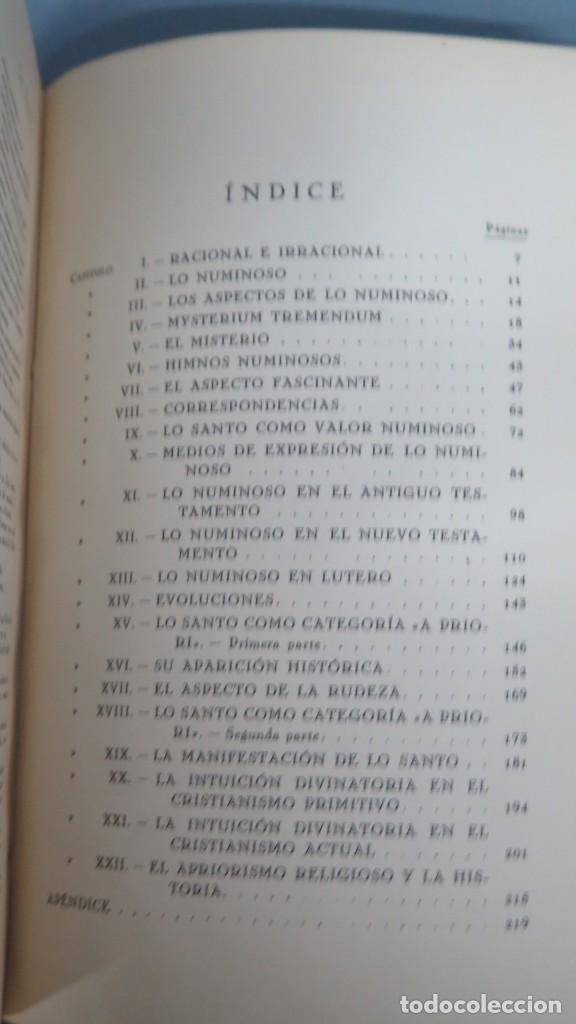 Libros antiguos: 1925.- LO SANTO LO RACIONAL LO IRRACIONAL EN LA IDEA DE DIOS. RODOLFO OTTO - Foto 2 - 194871322