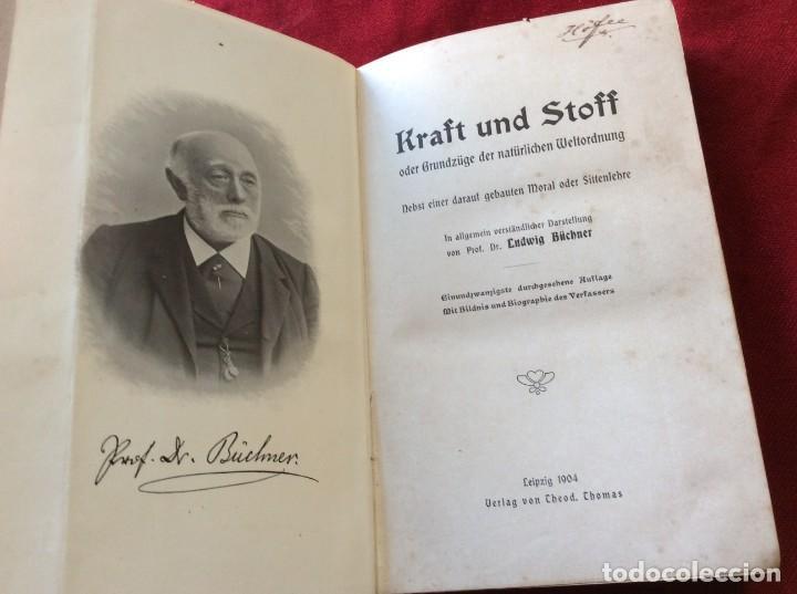 EL DR. LUDWIG BÜCHNER, PROF .: FUERZA Y SUSTANCIA, 1904, 1.ª EDICIÓN. MUY ESCASO. ENVIO GRÁTIS. (Libros Antiguos, Raros y Curiosos - Pensamiento - Filosofía)