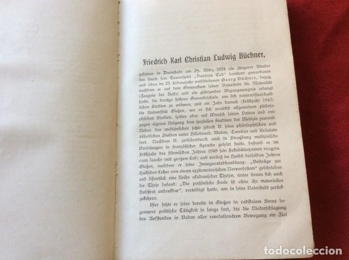 Libros antiguos: El Dr. Ludwig Büchner, Prof .: Fuerza y sustancia, 1904, 1.ª edición. Muy escaso. Envio grátis. - Foto 3 - 195065372