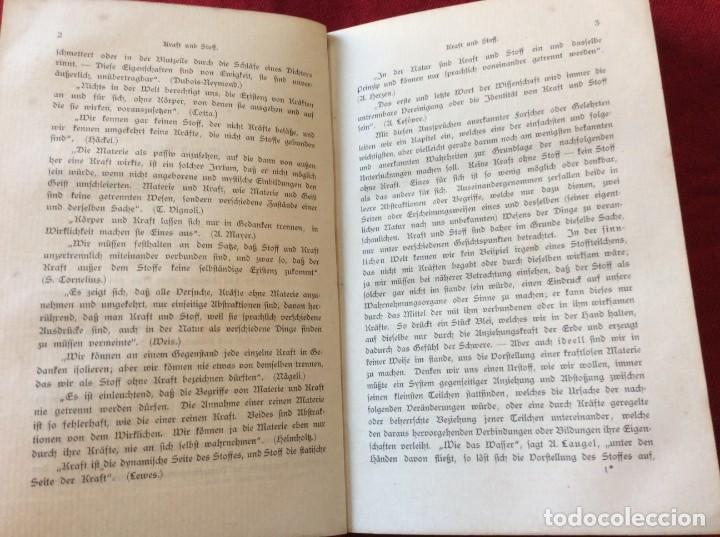 Libros antiguos: El Dr. Ludwig Büchner, Prof .: Fuerza y sustancia, 1904, 1.ª edición. Muy escaso. Envio grátis. - Foto 6 - 195065372