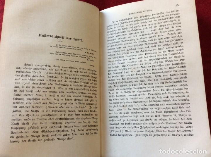 Libros antiguos: El Dr. Ludwig Büchner, Prof .: Fuerza y sustancia, 1904, 1.ª edición. Muy escaso. Envio grátis. - Foto 7 - 195065372