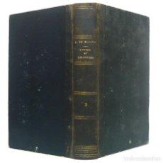 Libros antiguos: 1861 - EPISTOLARIO Y OPÚSCULOS INÉDITOS DE JOSEPH DE MAISTRE - FILOSOFÍA, LIBRO ANTIGUO. Lote 195479171