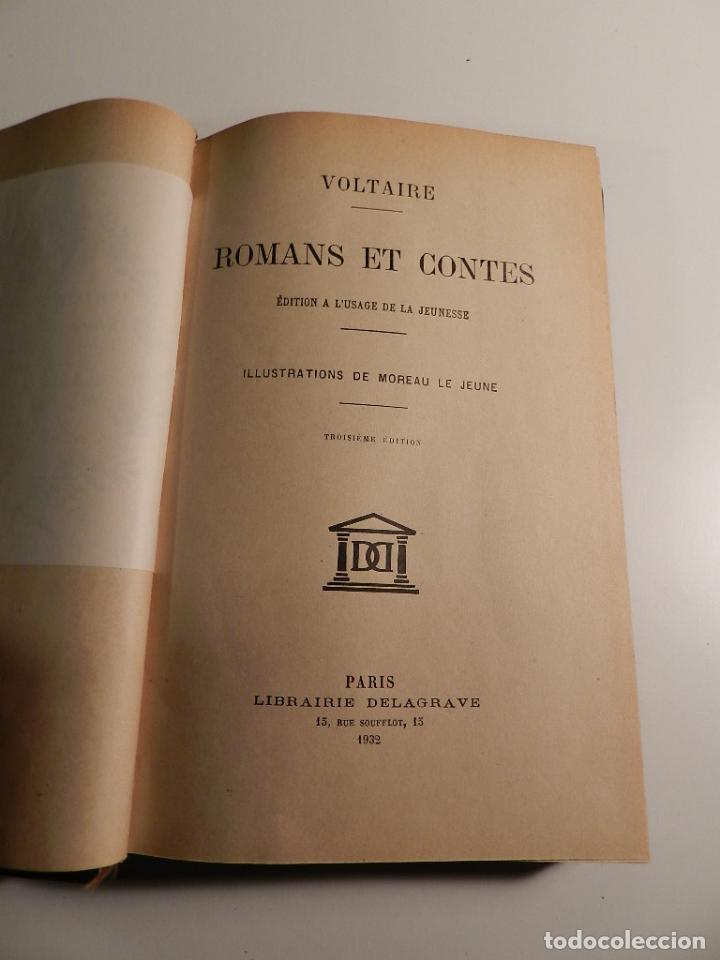 VOLTAIRE ROMANS ET CONTES - .ILUSTRADO POR MOREAU LE JEUNE PARIS LIBRARIE DELAGRAVE 1932 (Libros Antiguos, Raros y Curiosos - Pensamiento - Filosofía)