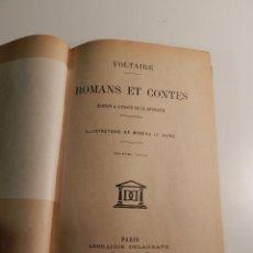 Libros antiguos: VOLTAIRE ROMANS ET CONTES - .ILUSTRADO POR MOREAU LE JEUNE PARIS LIBRARIE DELAGRAVE 1932. Lote 195966936