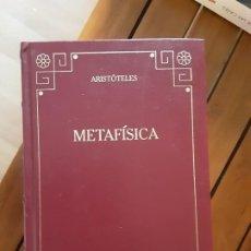 Libri antichi: ARISTÓTELES.– METAFÍSICA. BIBLIOTECA BÁSICA GREDOS, 2000. Lote 196246822