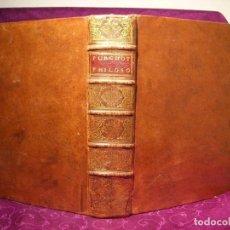 Libros antiguos: INSTITUTIONES PHILOSOPHICAE AD FACILIOREM..., 1733. E. PURCHOTTI. POSEE 33 GRABADOS. Lote 197477553