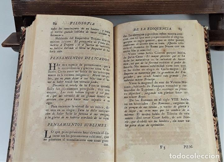 Libros antiguos: FILOSOFÍA DE LA ELOQUENCIA. A. DE CAPMANY. IMP. ANTONIO DE SANCHA. MADRID. 1778. - Foto 6 - 197638223
