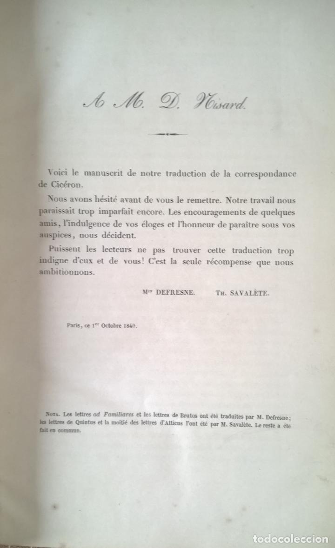 Libros antiguos: OUVRES COMPLETES DE CICERON. TOME CINQUIÉME . EDITEUR J.J. DUBOCHET. PARIS 1841 - Foto 4 - 197941575