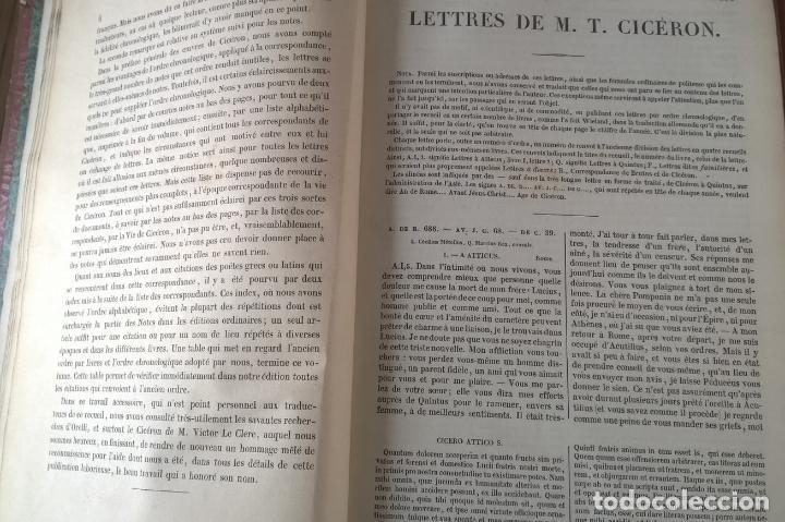 Libros antiguos: OUVRES COMPLETES DE CICERON. TOME CINQUIÉME . EDITEUR J.J. DUBOCHET. PARIS 1841 - Foto 5 - 197941575