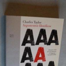 Libros antiguos: ARGUMENTOS FILOSÓFICOS. CHARLES TAYLOR.. Lote 198816137