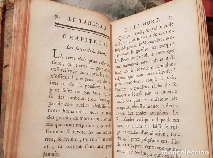 Libros antiguos: Le tabeau de la morte. Fráncfort 1761 - Foto 2 - 201639322