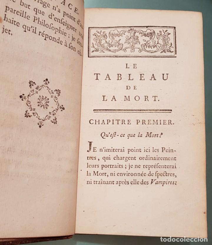 Libros antiguos: Le tabeau de la morte. Fráncfort 1761 - Foto 3 - 201639322