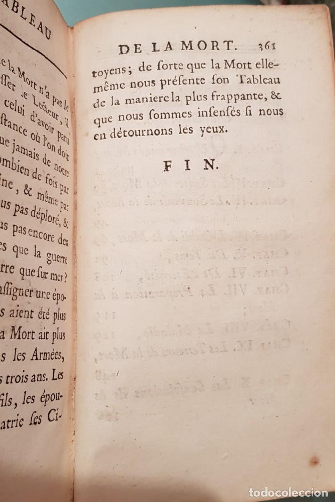 Libros antiguos: Le tabeau de la morte. Fráncfort 1761 - Foto 4 - 201639322