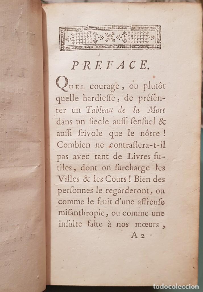 Libros antiguos: Le tabeau de la morte. Fráncfort 1761 - Foto 13 - 201639322