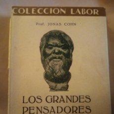 Libros antiguos: LOS GRANDES PENSADORES. INTRODUCCIÓN A LA Hª DE LA FILOSOFÍA. COLECCIÓN LABOR 1935. 189PGS 13. Lote 203988762