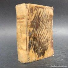 Livres anciens: 1824 - INSTITUTIONUM ELEMENTARIUM - FILOSOFIA - METAFISICA - ONTOLOGIA - PSICOLOGIA. Lote 205357701