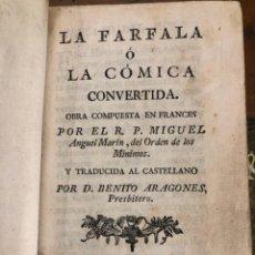 Libros antiguos: 1772 LA FARFALA O LA COMICA CONVERTIDA. Lote 205670915