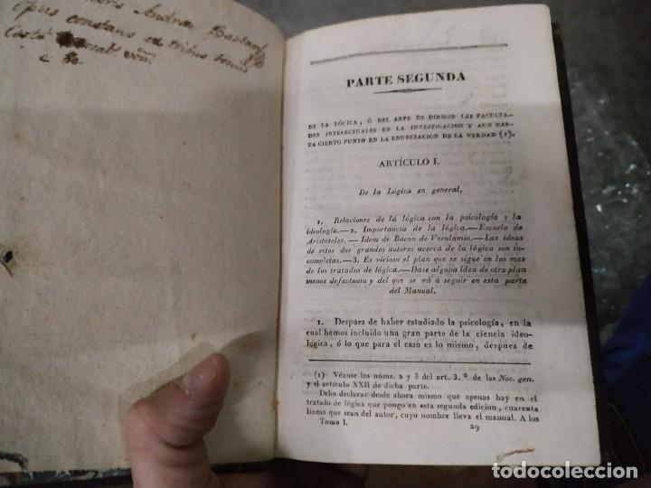 Libros antiguos: 1794? Manual clásico de filosofía parte Segunda - Servant Beauvais - Encuadernado en plena piel - Foto 4 - 205762931