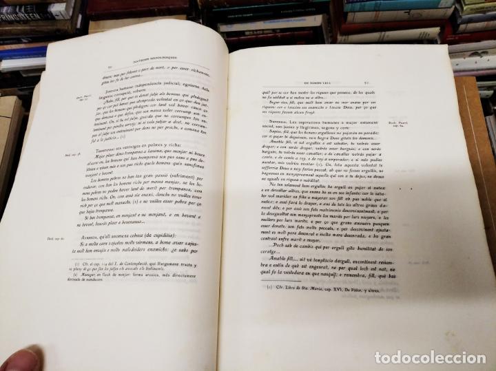 Libros antiguos: DOCTRINES SOCIOLÒGIQUES LULIANES. FRAGMENTS ORIGINALS CONCORDATS AMB BREUS NOTES. 1905 . MALLROCA - Foto 5 - 206835165