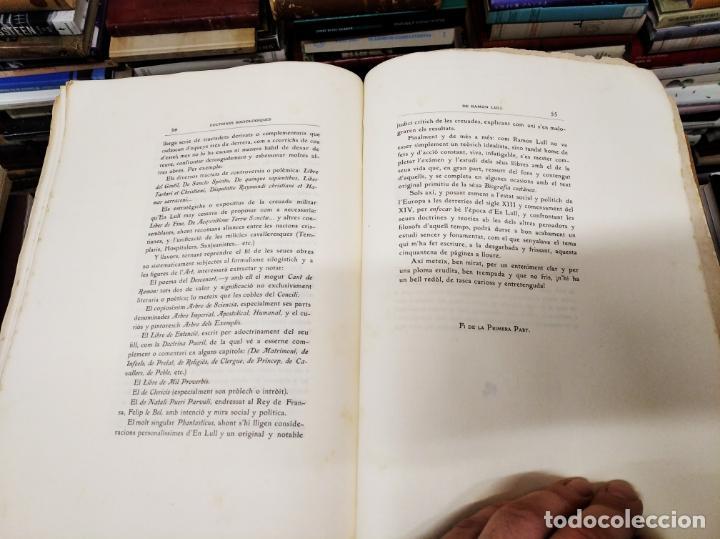 Libros antiguos: DOCTRINES SOCIOLÒGIQUES LULIANES. FRAGMENTS ORIGINALS CONCORDATS AMB BREUS NOTES. 1905 . MALLROCA - Foto 8 - 206835165