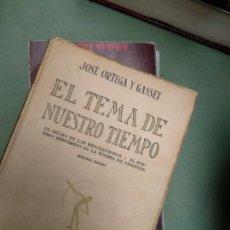 Libros antiguos: EL TEMA DE NUESTRO TIEMPO / JOSE ORTEGA Y GASSET 2 EDICION 1928. Lote 207228776